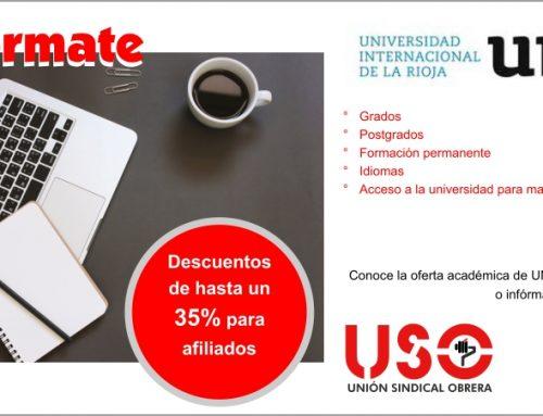 Convenio con la Universidad Internacional de la Rioja