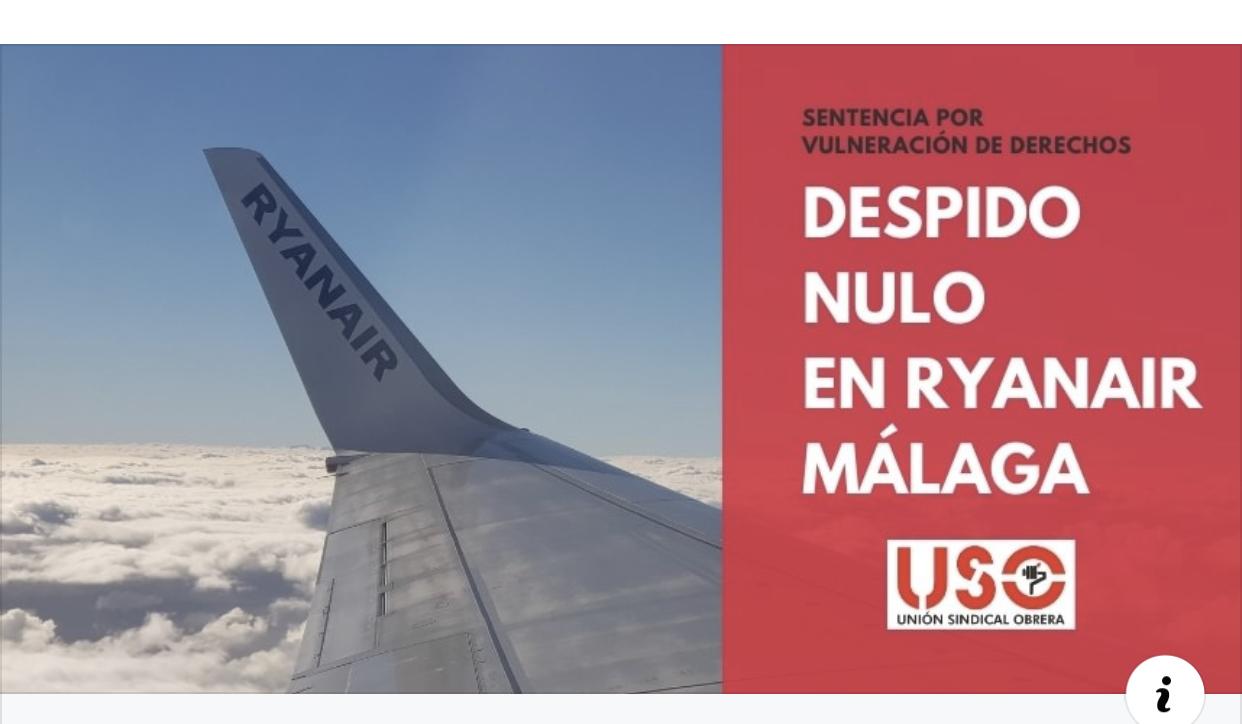 Declarado nulo el despido de un tripulante de Ryanair