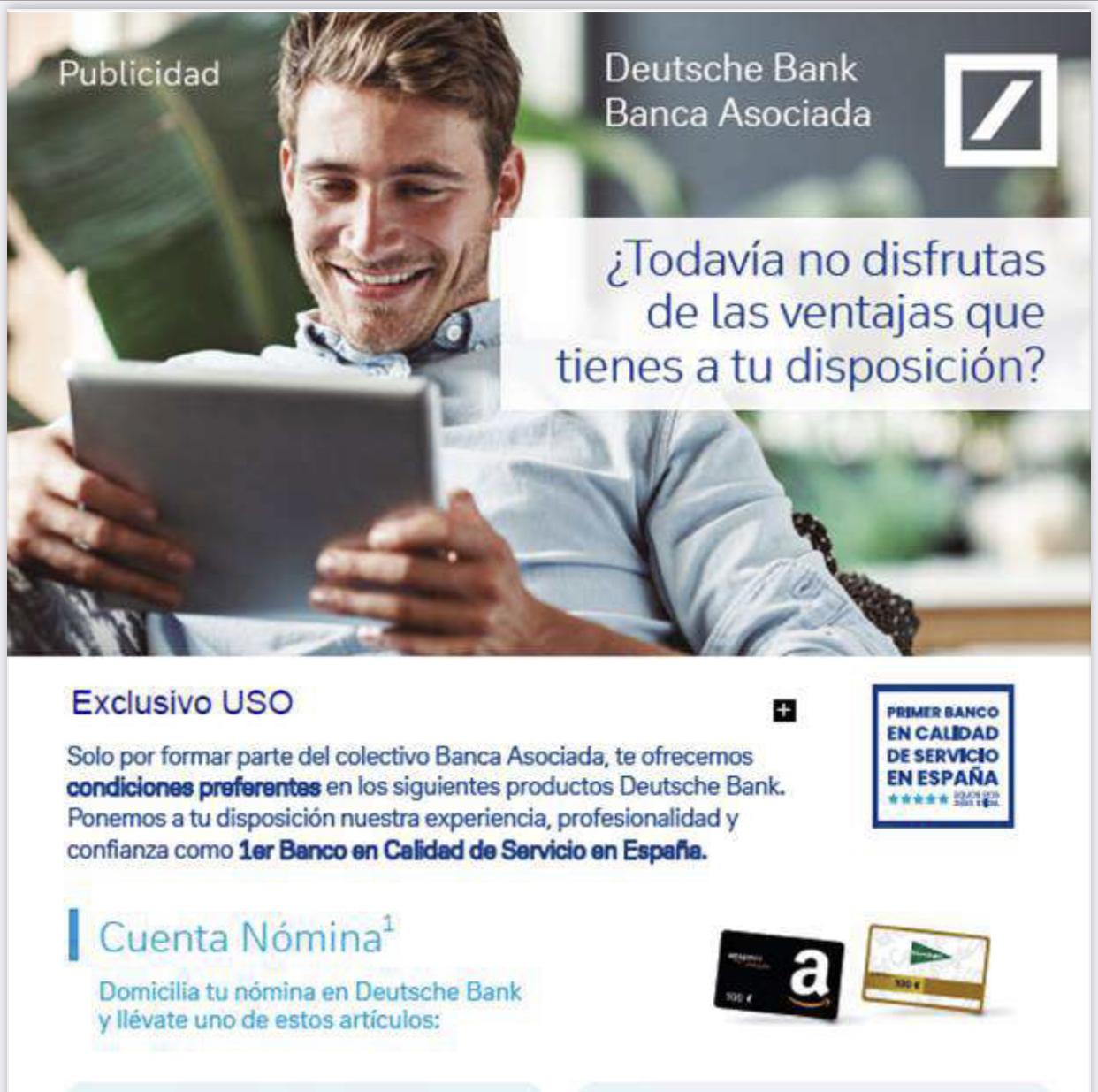 préstamo de Deustche bank para afiliados de USO